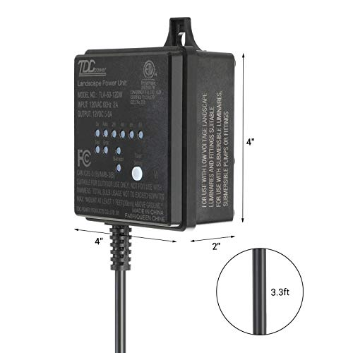 Dewenwils 60w Outdoor Low Voltage Transformer With Timer
