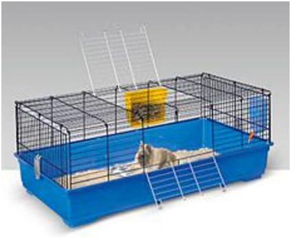 Jaula para Conejos en azul Única de 120 cm Cavia fácil: Amazon.es ...