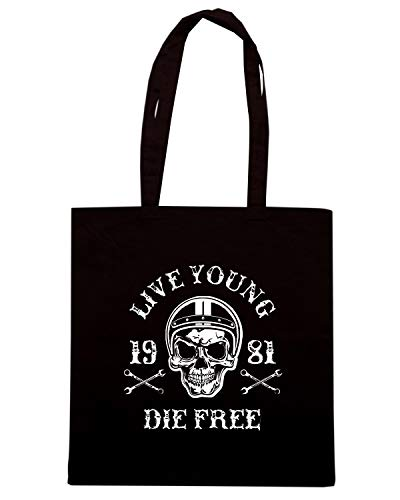 SCHOOL TB0352 AND Shirt Nera SKULL RACING Borsa BIKE Shopper OLD Speed qzw4USAU