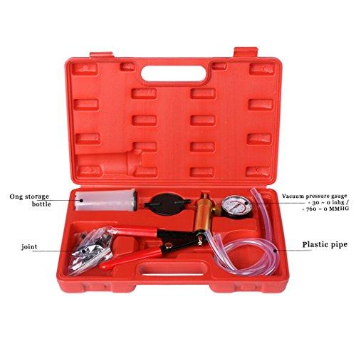 Eshion Car Auto Vehicles 2 In 1 Brake Bleeder And Hand Held Manual Vacuum Pump Tool Kit by eshion (Image #1)