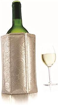 Vacu Vin 3880562 - Enfriador para Botellas de Vino, Color Plateado
