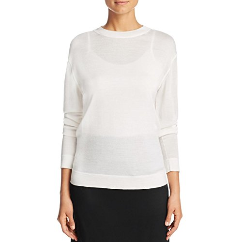 DKNY Womens Silk Mock Neck Casual Top Ivory P by DKNY