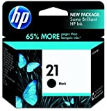 HP 21 Black Ink Cartridge in Retail Packaging