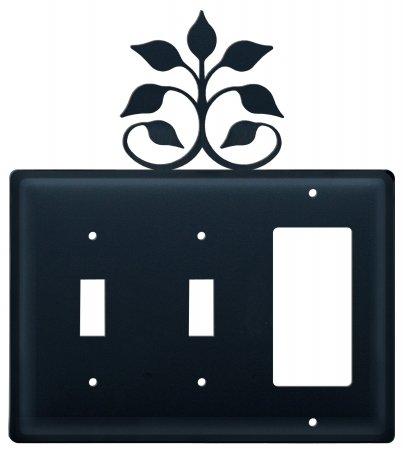 Village Wrought Iron ESSG-109 Switch Cover Triple - Leaf Fan -
