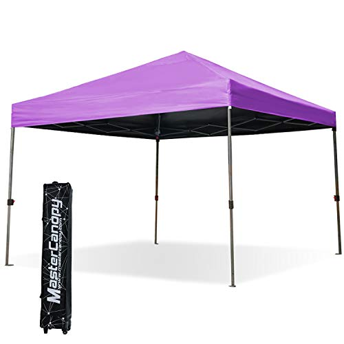 MASTERCANOPY Commercial 10x10ft Instant Canopy Ez Pop up Tent Portable Folding Canopy W/Wheeled Roller Bag for Trade Show(Purple) For Sale
