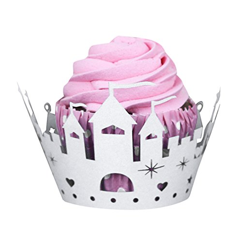 [Pearlecent Art paper Cake Cup Halloween Pumpkin Lace Laser Cut Cupcake Wrapper Liner Baking Cup Muffin (White)] (Elegant Coffin Witch Costumes)