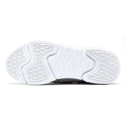 Mujer Deportivas Zapatillas Transpirable Gris Ligera Malla de y vOCWwvTq