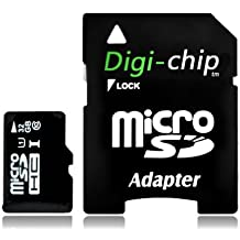 Digi-Chip HIGH SPEED 32GB UHS-1 CLASS 10 Micro-SD Memory Card for Blackberry Z30, Z10 and Q10 cell phones