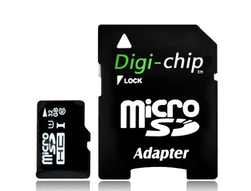 Digi-Chip HIGH SPEED 32GB UHS-1 CLASS 10 Micro-SD Memory Card for Nokia Lumia 520, 525, 620, 625, 720, 810, 822, 1320 and Nokia Lumia 1520 cell phone