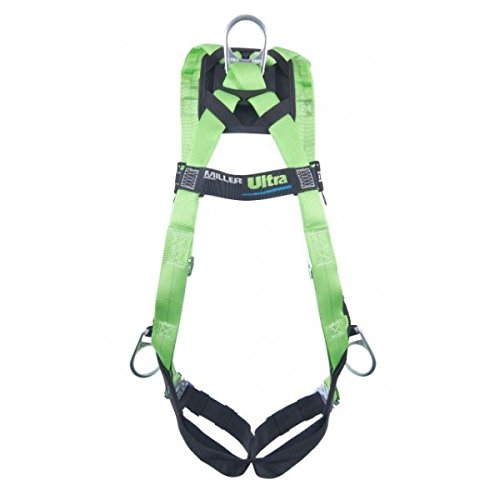 Honeywell P950QC/UGN Miller Universal Green Python Ultra Full Body Harness with DuraFlex Webbing, Front D-Ring, Quick Connect Chest and Leg Strap Buckles
