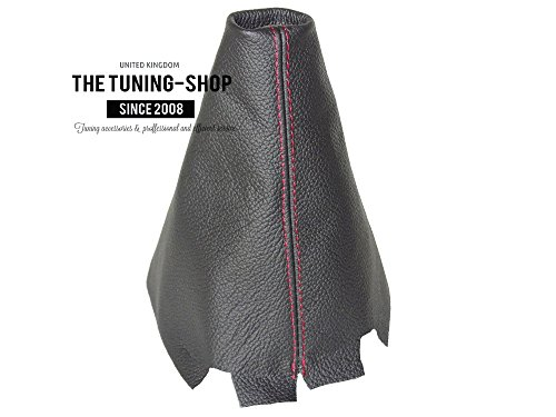 [해외]MAZDA 3 2003-09 시프트 부츠 블랙 리얼 레드 가죽 스티칭/For MAZDA 3 2003-09 SHIFT BOOT BLACK GENUINE LEATHER RED STITCHING