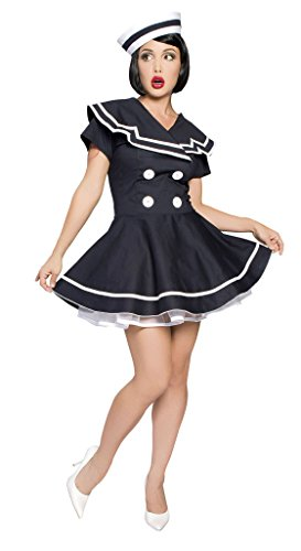 Pin-Up Captain Adult Costume Navy Blue - Medium/Large -