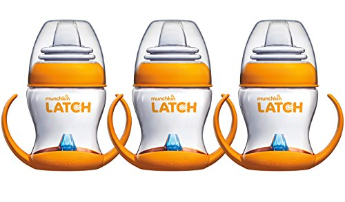 Munchkin Latch 4 Ounce Transition Trainer Cup, 3 Pack (Best Sippy Cup To Transition From Breast)