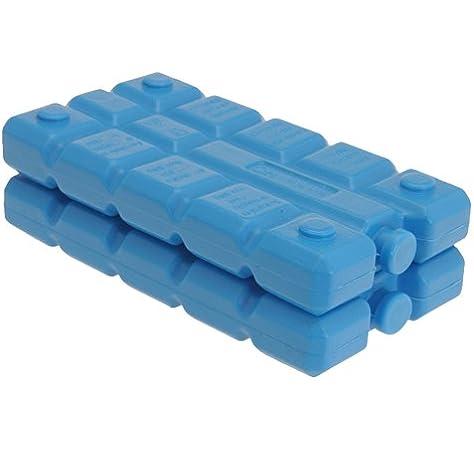Bloques de hielo para congelar de color azul, de 1 a 4 unidades, reutilizables, de 200 gramos, ideales para un picnic, para bolsas de frío, para cajas de almuerzo, negro, 1 pack: