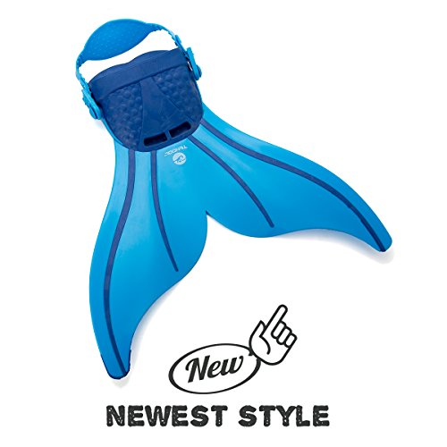 Tendol Mermaid Swimming Fin, with new strong adjustable strap. (Blue)