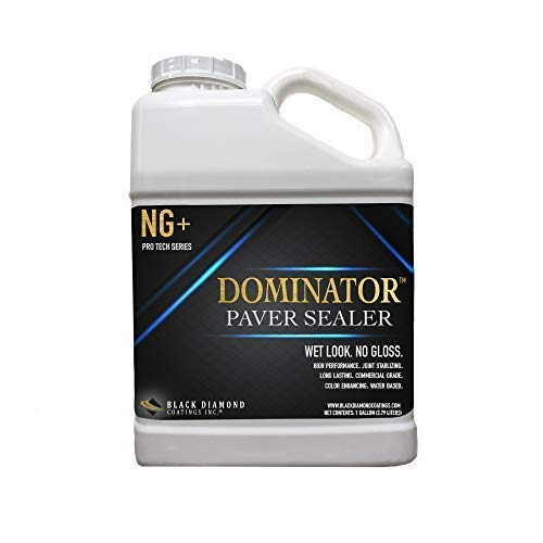 1 Gallon Dominator NG+, No Gloss Paver Sealer (Wet Look) - Commercial Grade, Water Based, Color Enhancing, Easy Application by BLACK DIAMOND COATINGS INC. (Image #6)