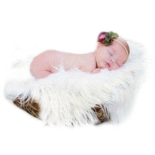 Fascigirl Foto de recién Nacido, fotografía Prop Foto Manta de Pelo Largo Alfombra de Fotos de bebé, Gris, Una Talla