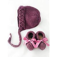 Conjunto Uva de gorro y zapatos - PEONI MILOU/regalo/baby shower/nacimiento/bebé