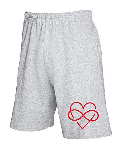Grigio Forever Love Pantaloncini Tdm00084 T shirtshock Tuta wvCUqXFxt