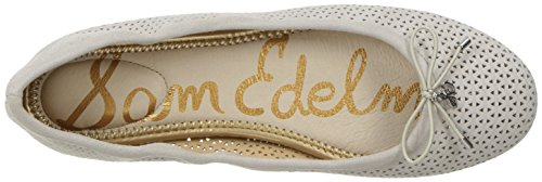 Perforated Edelman Suede Ballet 2 Flat Sam Women's Greige Felicia 0wxH4FdO