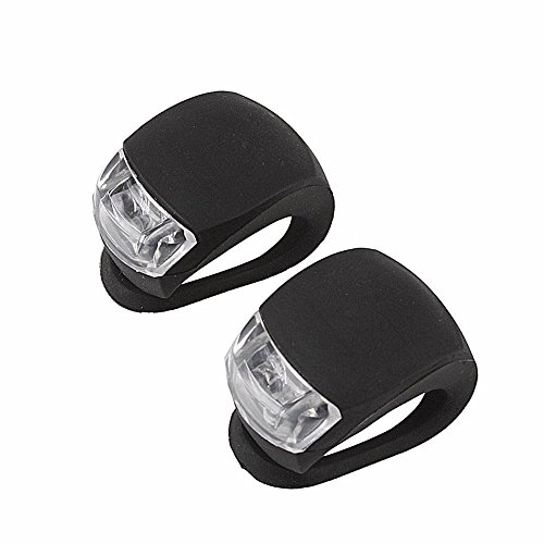 KUU 5th LED Silicone Bike Bicycle Cycling Frog Front Rear Lamp Head Light Safety Warning -Black