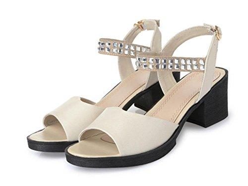 Rund mit der Diamant weiblich Sandalen Sommer Frauen Cool Hausschuhe, beige