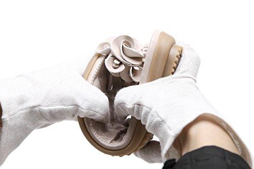 Eleganti da Ciabatte Spiaggia CARETOO Ragazze Pantofole Boemia Sandali Donna Basse Pantofole Semplice Scarpe Colore Puro Nero Infradito Donna 2 Estivi qw6EC