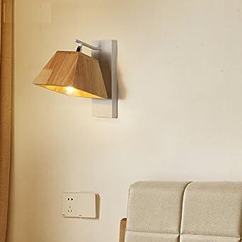 Bingnordique Creative Solide Bois Mur Lampe Couloir Chambre Lampe De