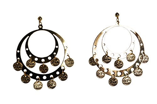 Rubie's Costume Co. Pierced Gypsy Earrings Costume, One Size, Multicolor ()