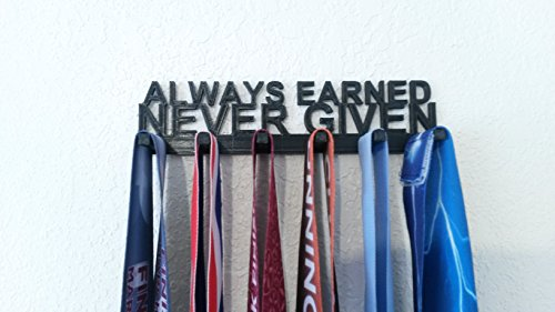 Always Earned Never Given Medal Hanger Display ()