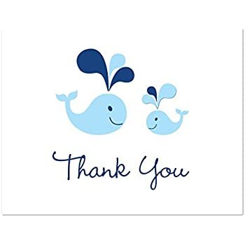 Amazoncom Whale Thank You Baby Shower Thank You Cards Set of 10