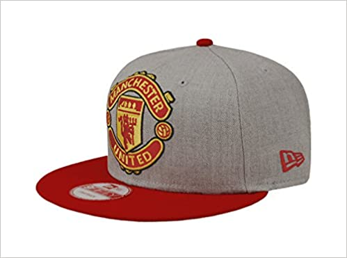 45a152d278f New Era 9Fifty Hat Manchester United F.C. Soccer League Club Grey Red Cap   0190290791167  Amazon.com  Books