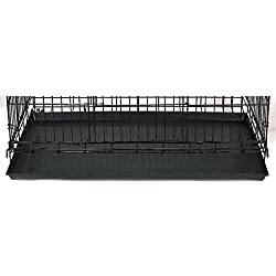 """Pro Select Replacement Trays for Cat Cages - Durable, Easy-to-Clean ABS-Plastic Trays for ProSelect Cat Cages - 35""""L x 21½""""W x 1⅜""""H, Black"""