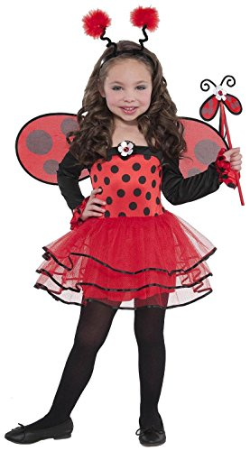 AMSCAN Ballerina Ladybug Halloween Costume for Toddler Girls, 3-4T, with Included Accessories ()