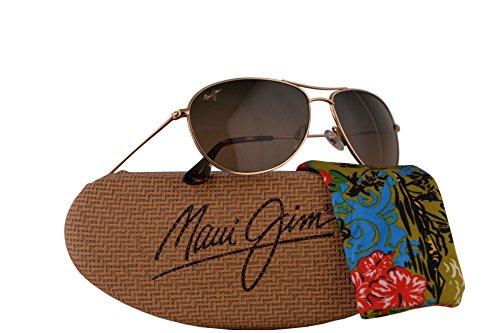 Maui Jim Sea House Sunglasses Gold w/Polarized Brown Lens - Jim Wiki Wiki Gold Maui