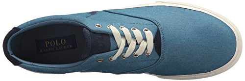 Polo Ralph Lauren Mens Sneaker Denim Color Velluto Blu