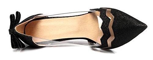 Aisun Femme Chic Paillettes Transparent Talon Aiguille Escarpins Noir Wwqke3G