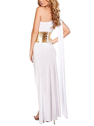 Leia In Slave Costumes (Sexy Costume Princess Leia Slave Miss Manners Uniform WhiteX-Large)