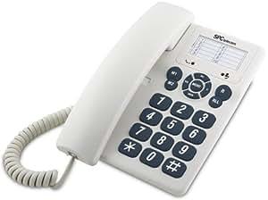 SPC Telecom 3602 - Teléfono fijo digital, blanco