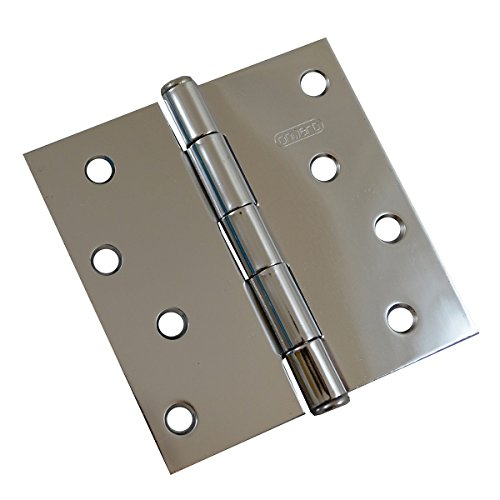 Richelieu Hardware - 822CB - Box of 2 - 4 inches Mortise Butt Hinges - Polished Chrome  Finish