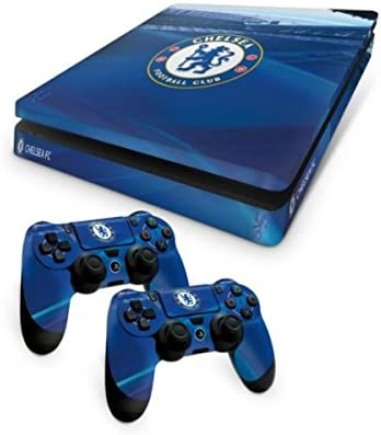 Official Chelsea FC PS4 Slim Console Skin and 2x Controller Skin ...