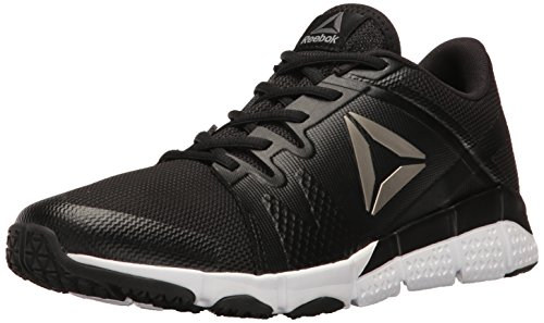 Reebok Men's Trainflex Cross-Trainer Shoe, Black/White/Pewter/Grey, 10 M US