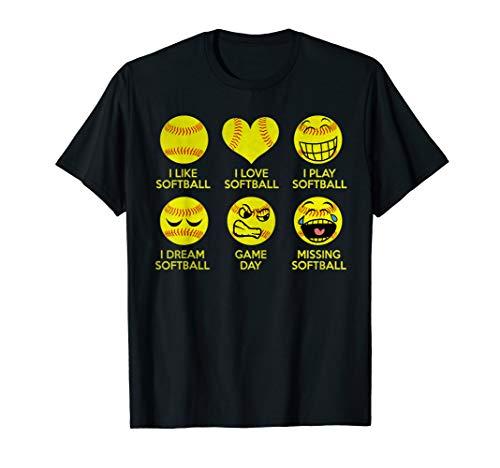 I Like Softball I Love Softball I Play Softball Tshirt ()