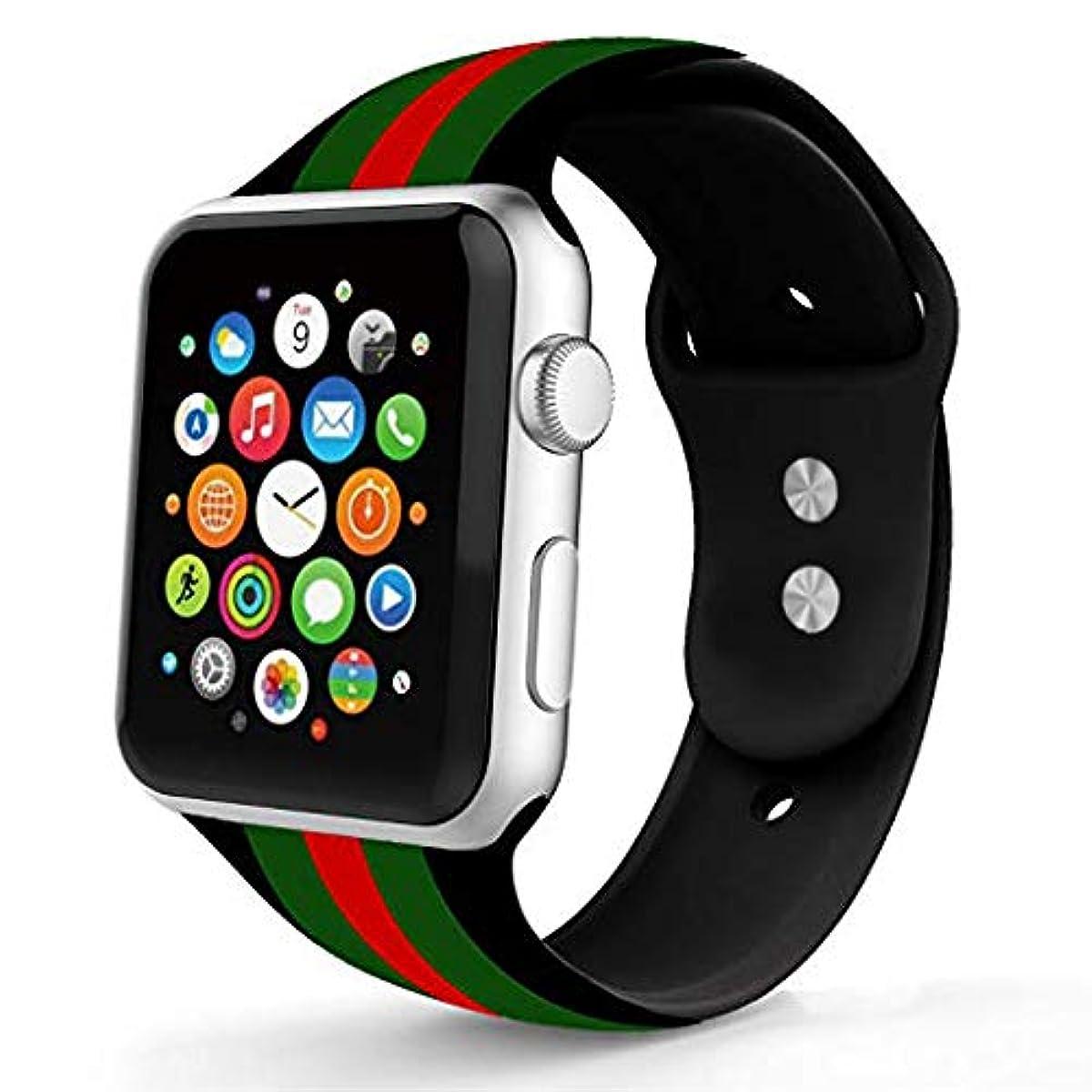 6e9cf9e97f2 Apple Watch Band Gucci Black Iwatch Silicone 42mm 44mm Series 2 3 4  Accessories