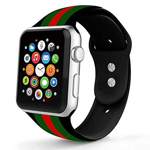 e3fd8d1e6ab Image Unavailable. Image not available for. Color  Replacement for Apple  Watch Band 42mm Series 3 Silicone ...