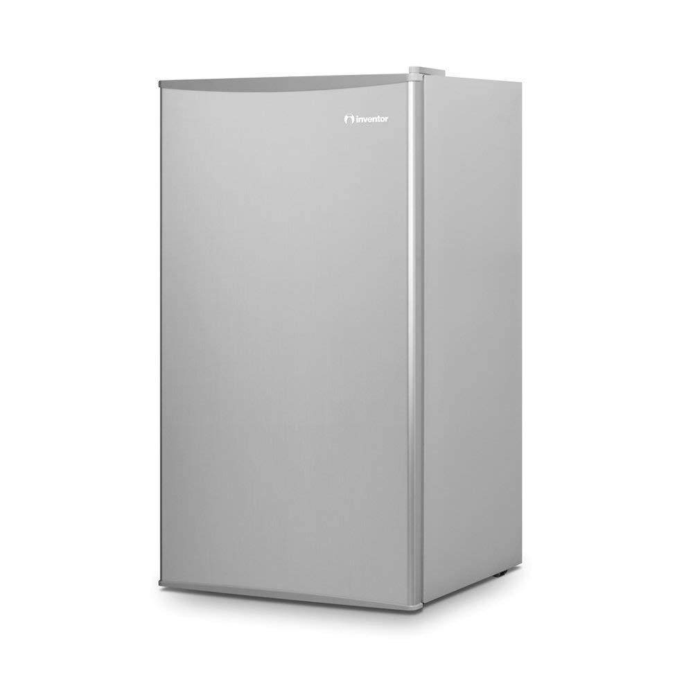 Inventor Mini Nevera A++, 93 litros de capacidad, Silenciosa e ideal para hoteles, estudiantes, oficinas y pequeños hogares, Color plata [Clase de eficiencia energética A++] INVMS93A2
