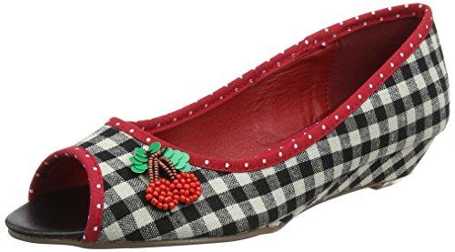 Black A Noir Browns Escarpins Noir Toes Peep Cherrylicious Bout Joe Red Ouvert Femme 7Sfvwq4v