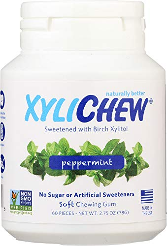 (Xylichew (NOT A CASE) Sugar Free Chewing Gum Peppermint Jar, 60 pc)
