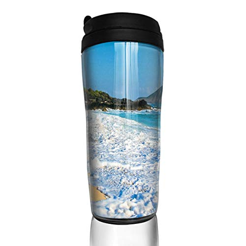 Coffee Cups Hawaii Beach Foam Travel Tumbler Insulated Leak Proof Drink Containers Holder Fantastic 12 Ounces