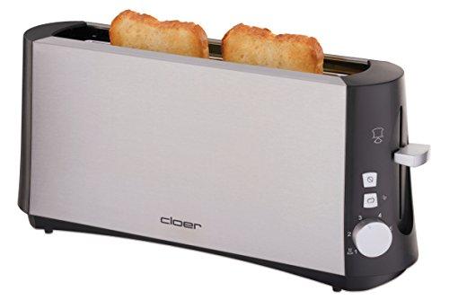 Cloer 3810 Langschlitztoaster für 2 Toastscheiben / 880 W / StiWa